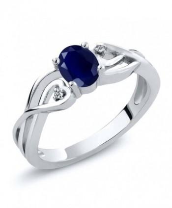 Sterling Sapphire Diamond Engagement Available - CS120OPPR9V
