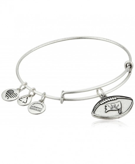 Alex and Ani Womens NFL Tampa Bay Buccaneers Football Bangle - Rafaelian Silver - CA11WUVZUTF