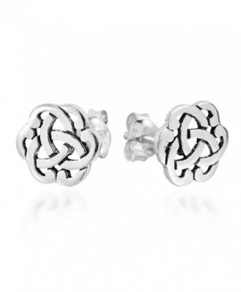Interlocking Celtic Sterling Silver Earrings