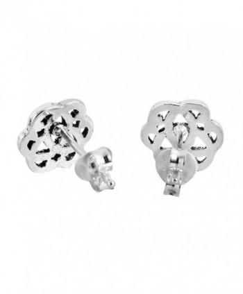 Interlocking Celtic Sterling Silver Earrings in Women's Stud Earrings