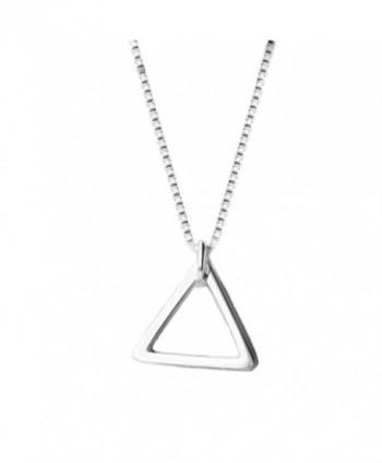 Helen de Lete Simple Geometry Sterling Silver Choker Necklace - CH12NEPYM3Z