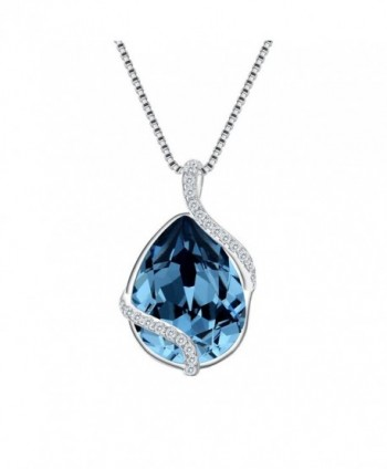 EVER FAITH Sterling Adjustable Swarovski - Denim Blue-925 Sterling Silver - C5185TEOQD2