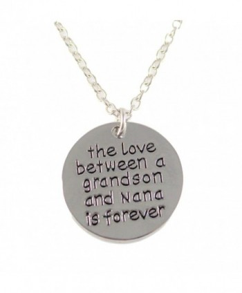 Grandson and Nana Keepsake Pendant Necklace The Love Between a Grandson and Nana is Forever - C012NT661ZE