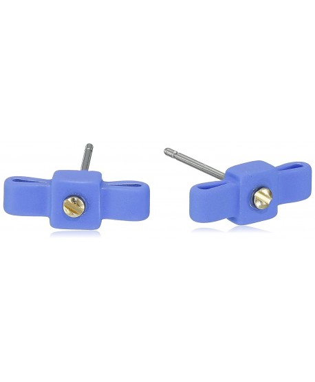 MARC BY MARC JACOBS Rubberized Bow Tie Black Stud Earrings - Conch Blue - CC11RKG8HFT