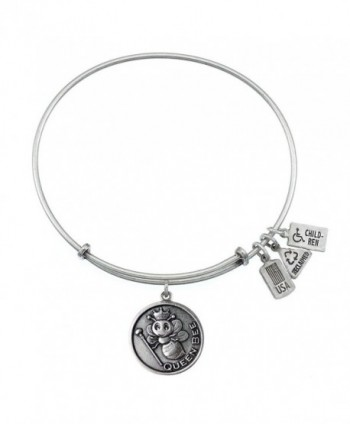 Wind and Fire Queen Bee Charm Bangle Silvertone - CN11NZKM877