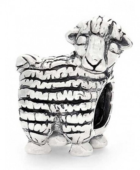 Bling Jewelry Antiqued 925 Sterling Silver Animal Charm Sheep Bead - CG110ERCD5B