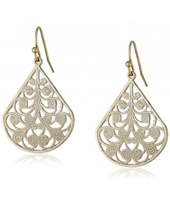 1928 Jewelry Vine Earrings - gold - C3115VCC92V