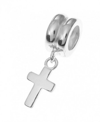 .925 Sterling Silver Holy Little Christ's Cross Dangle Bead For European Charm Bracelets - CL11K15TUVL