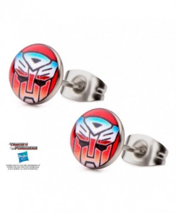 Transformers Earrings Autobot Round Stainless in Women's Stud Earrings
