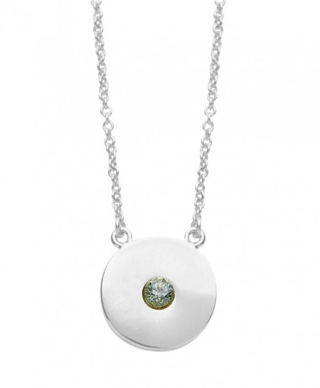 Personalized Birthstone Necklace- Rhodium Plated - &lsquoYou're a Gem' from Sterling Forever - CW17AAT87NO