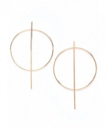 Hoop Earrings in Gold Color | Modern Bar Hoop Earrings nickel free - CF12MZ1E0Q4