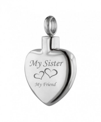 Perfect Memorials My Sister My Friend Heart Stainless Steel Cremation Jewelry - CC11WTBNG5B