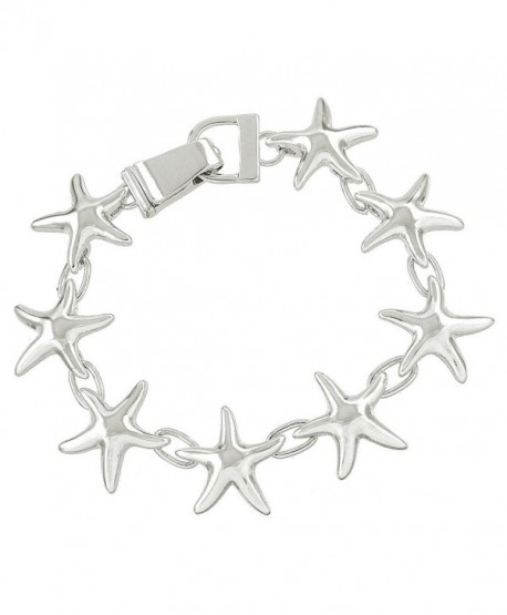 Liavy's Starfish Fashionable Chain Bracelet - Silver Plated - Magnetic Clasp - Unique Gift and Souvenir - CQ12F2YC9RR