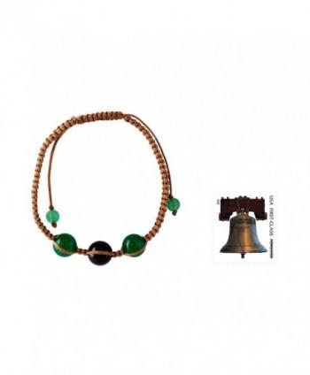 NOVICA Shambhala Adjustable Protective Tranquility in Women's Link Bracelets