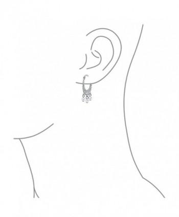 Bling Jewelry Freshwater Cultured Sterling in Women's Hoop Earrings