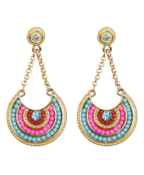 Vibrant Multicolor Dangle Earrings - CM12N2GCGSF