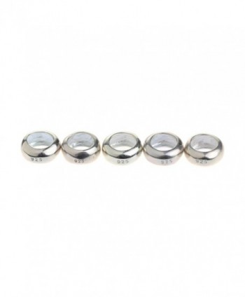 Beads Hunter 5 Pcs Sterling Silver Spacer Charm Fit Pandora Bracelets - CK11ROOZOCB