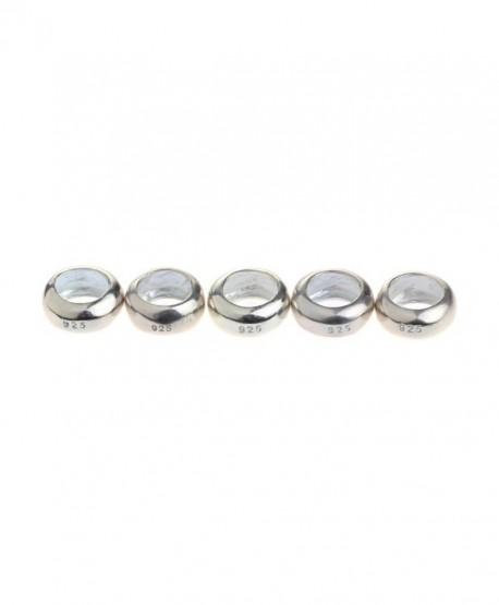 Beads Hunter 5 Pcs Sterling Silver Spacer Charm Fit Pandora Bracelets - CK11ROOZOCB