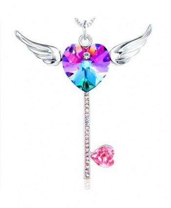 Crystals Swarovski Pendant Necklace Daughter - Purple - CT18027X7XQ