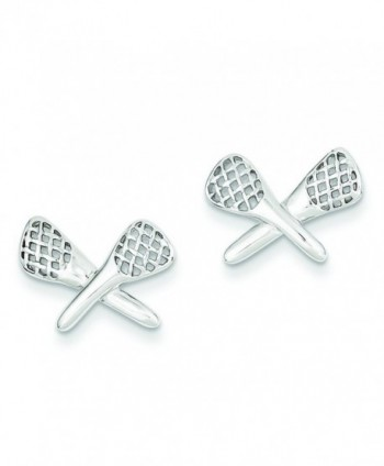 Sterling Silver Lacrosse Earrings - CA115732RV7