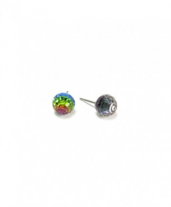 Vitrail Medium Faceted Ball Swarovski Austrian Crystal Earrings- 8mm - CQ1137TFJZ9