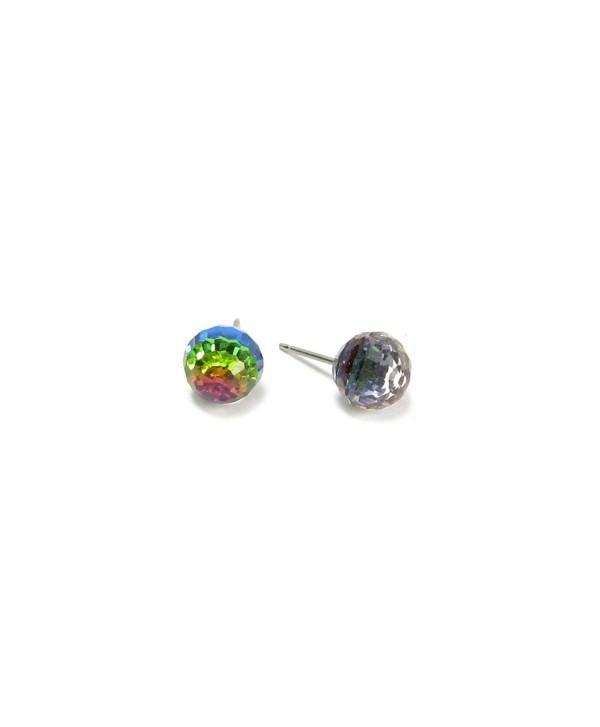 Vitrail Medium Faceted Ball Swarovski Austrian Crystal Earrings- 8mm - CQ1137TFJZ9