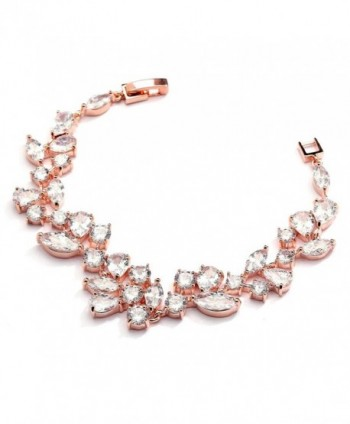 "Mariell Mosaic Wedding Bridal Bracelet - ""Rose Gold 6 ?"""" Length"" - CE12MNL8D7H"