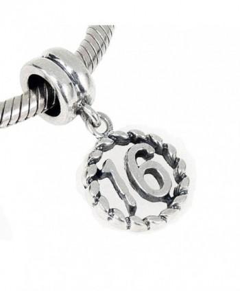 Jewelry Sterling European Sixteen Wonderful in Women's Charms & Charm Bracelets