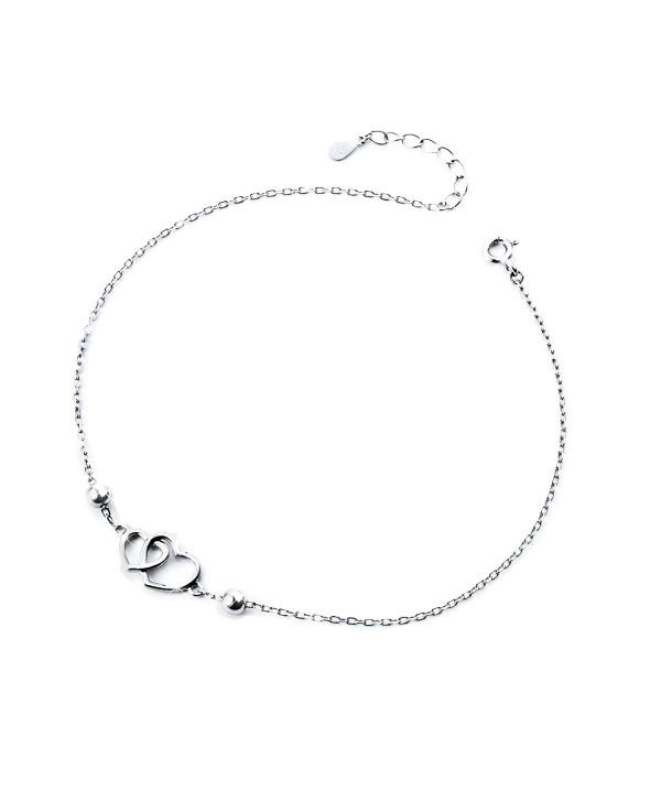 Anklet for Women S925 Sterling Silver Adjustable Foot bracelet - CQ1847U9XU7