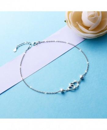 Anklet Sterling Silver Adjustable bracelet