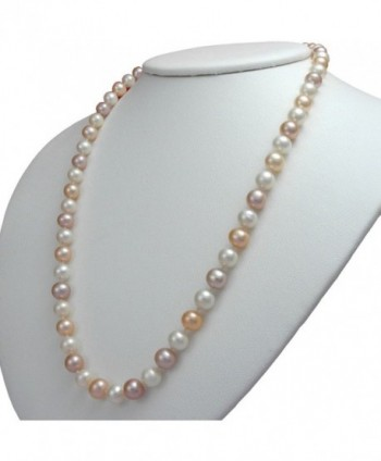 Multicolor Freshwater Cultured Pearl Necklaces AA Cultured Pearl Pendant Necklace Holiday Gift - CB12F7L567P