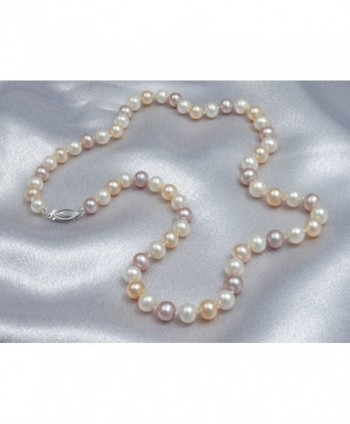 Multicolor Freshwater Cultured Necklaces Necklace in Women's Pearl Strand Necklaces