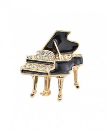 chelseachicNYC Tiny Jewel Crystal Shimmering Grand Piano Brooch Pin - CL120CSTYCV