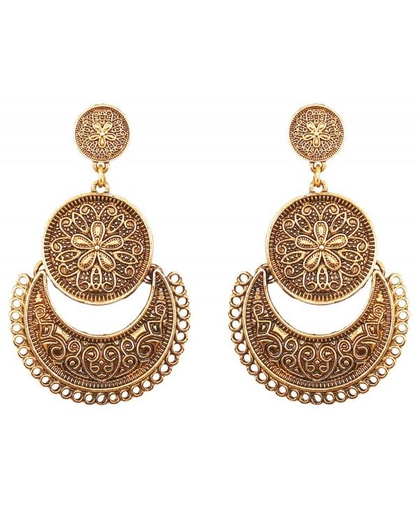 Touchstone Bohemian Bollywood Chandbali chandelier - Oxidize - CQ17AAAA28G