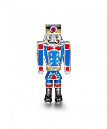 "NinaQueen ""The Nutcracker"" 925 Sterling Silver Robot Police Charms - CX128JDUVHX"