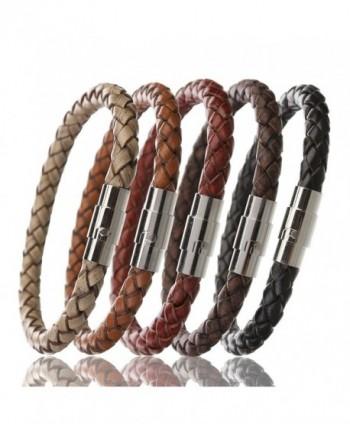 Linsoir Braided Bracelet Stainless Magnetic in Women's Bangle Bracelets