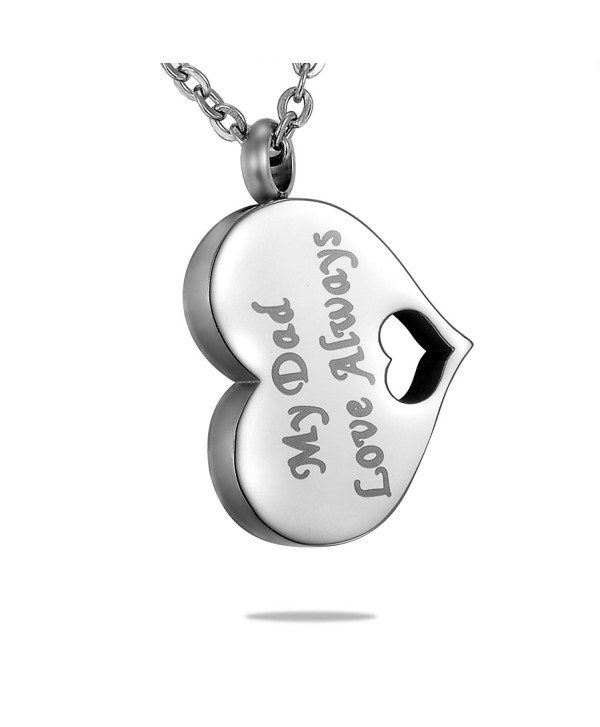 "HooAMI ""My Dad My Hero My Angel"" Cremation Jewelry Urn Necklace Pendant - CM120GGBG0H"