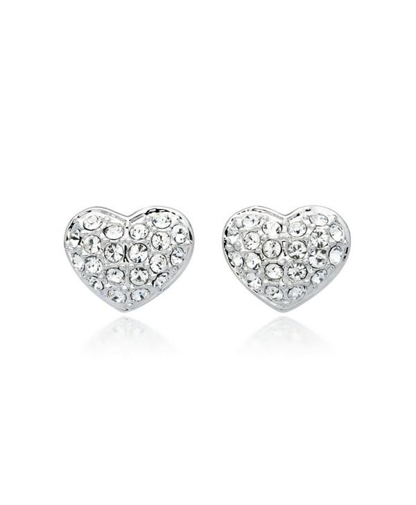 e028fca6d Myjs Alana Rhodium Plated Pave Heart Stud Earrings With Clear. Earrings  Alana Pink Heart Swarovski Jewelry 993487 144150885