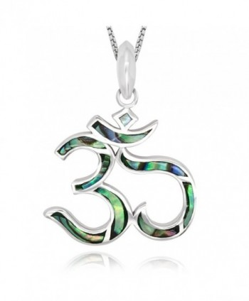 Sterling Silver Abalone Pendant Necklace - Abalone Shell - CE12EWP8G5B
