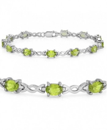 6 ct Peridot Infinity Link Tennis Bracelet in Sterling Silver (7 1/4 inch) - CV11G3PN5UP