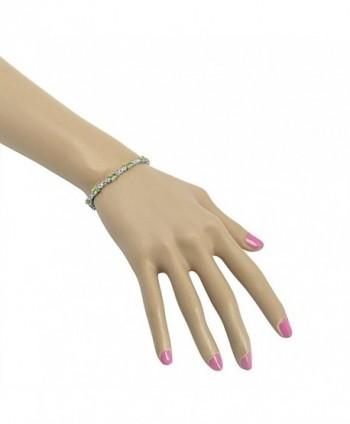 Peridot Infinity Tennis Bracelet Sterling