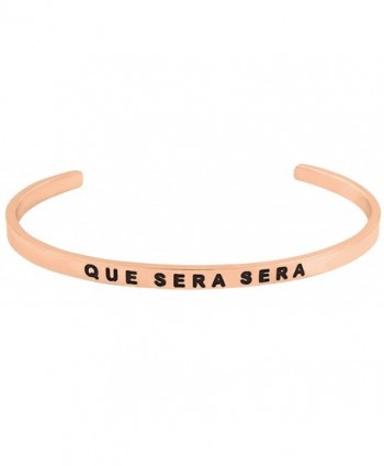 Inspirational WHATEVER Engraved Positive Bracelet - Rose Gold - C31809DDS54