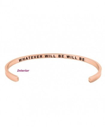 Inspirational WHATEVER Engraved Positive Bracelet