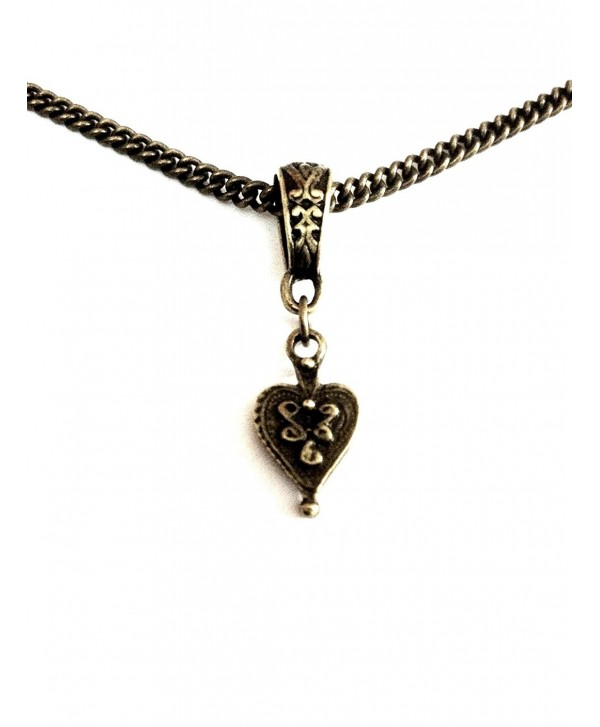 Vintage Heart Bronze Necklace - 8th Wedding Anniversary / Birthday - Wrapped & Gift Boxed - CU11BSA9XI7