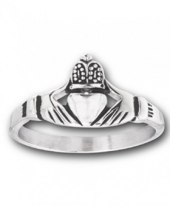 316L Stainless Steel Friendship Love Loyalty Claddagh Celtic Ring - CQ11EL0OD19