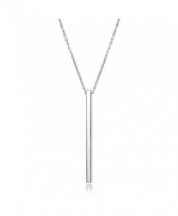 UMODE 925 Sterling Silver Bar Pendant Necklace 17.5 in - CH12NSVC643