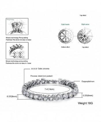 Bracelet Swarovski Elements Valentines Zirconia in Women's Tennis Bracelets