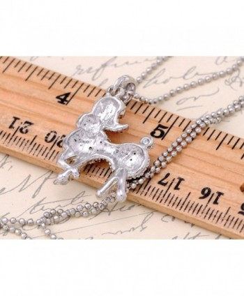 Alilang Silver Rhinestones Pendant Necklace in Women's Pendants