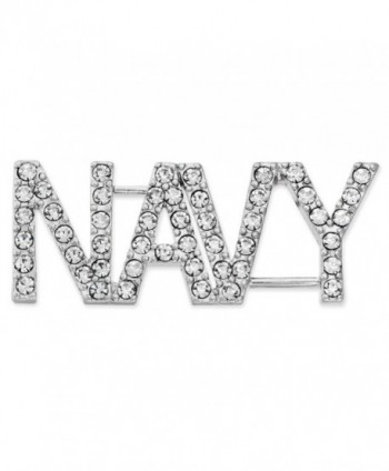"PinMart's Rhinestone USA Military NAVY Patriotic Jewelry Brooch Style Pin 1-3/4"" - CZ119PEOH6R"