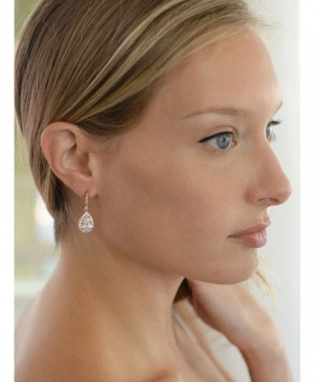 Mariell Plated Zirconia Bridal Earrings